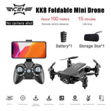 KK8 Foldable Mini Drone RC FPV Aircraft 360 degrees Stunt Wifi FPV Drone RC Helicopter Toys Gift for Children Boys Girls - Go High Drone
