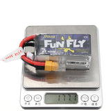 TATTU Funfly 14.8V 1550mAh 100C 4S XT60 Plug Lipo Battery for Emax HAWK 5 FPV Racing Drone - Go High Drone