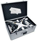 Ultimax Aluminum Hard-Shell Case with Adjustable Foam Fits with All DJI Phantom Drone Models/Series 1+2+3 and Extra Ulitmax Accessories - Go High Drone