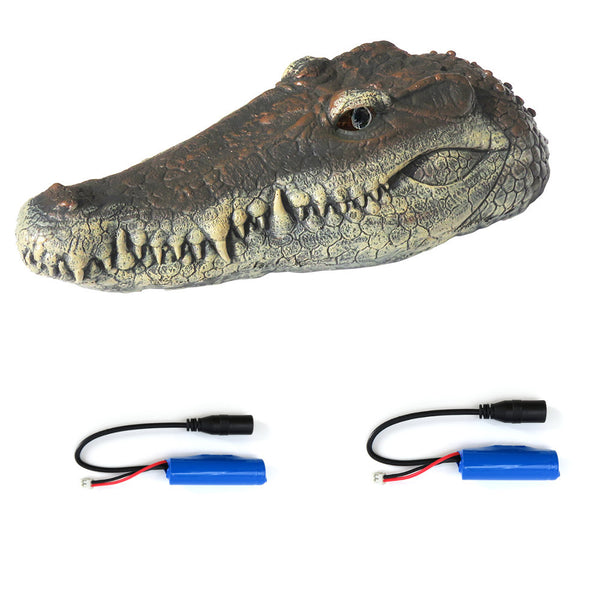 Flytec V005 w/ 2 Batteries Version 2.4G Electric RC Boat Simulation Crocodile Head Vehicles RTR Model Toy - Go High Drone