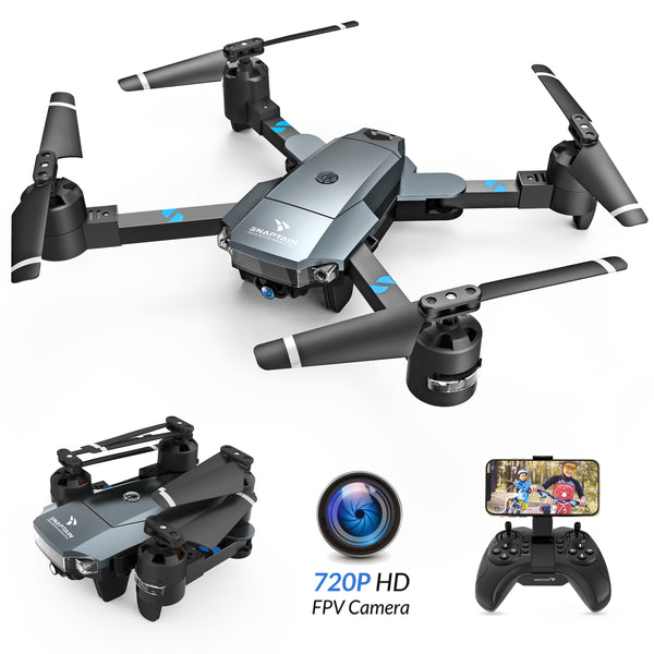 SNAPTAIN A15H FPV RC Drone with 720P HD Camera and Live Video 120° Wide-Angle WiFi Quadcopter Foldable Drone with Trajectory Flight Altitude Hold Headless Mode 3D Flip and One Key Return for