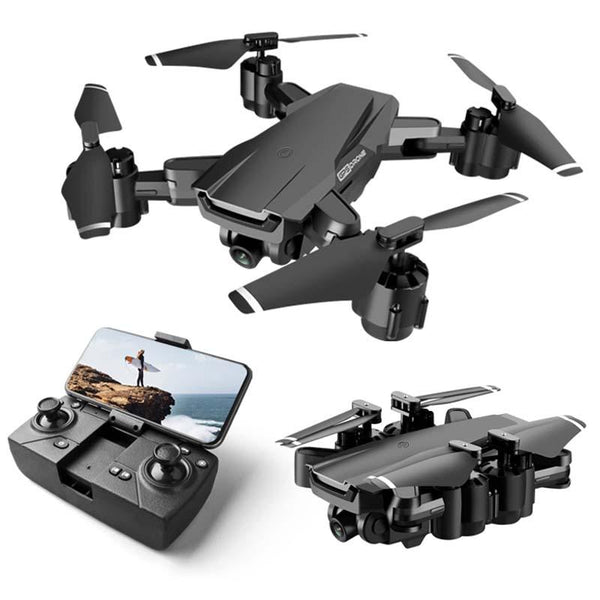 GPS Drone with 4K camera foldable Drones with HD Adjustment Camera Wide Angle WIFI FPV RC Quadcopter Professional for adults 1080p Upgraded - Go High Drone