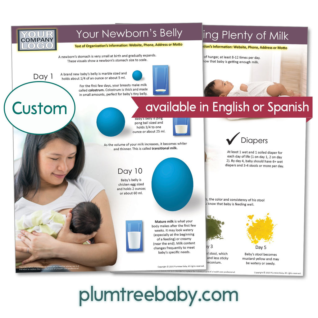 Breastfeeding Your Newborn Handouts - Pack of 50-Handout-Plumtree Baby