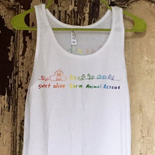 Load image into Gallery viewer, Rainbow Farmhand Tank White