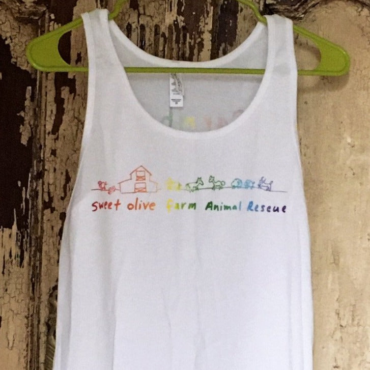 Rainbow Farmhand Tank White