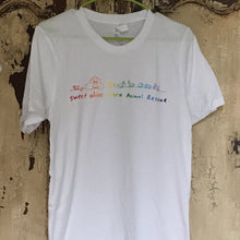 Load image into Gallery viewer, Rainbow Farmhand Tee White