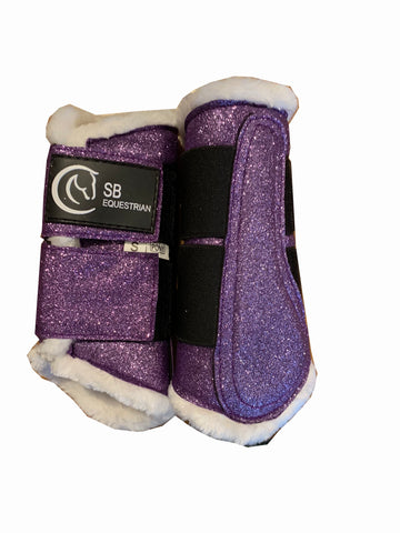 Purple Glitter Brushing Boots