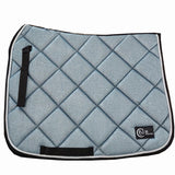 Baby blue glitter saddle pad