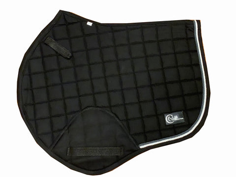 Black & Silver Jump saddle pad