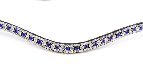 Blue and Silver Crystal Browband