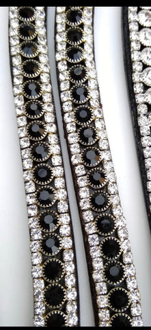 Black and Silver Crystal Browband