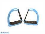 Sky Blue Peacock Stirrups