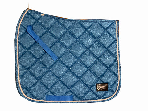 Blue Pattern Dressage saddle pad