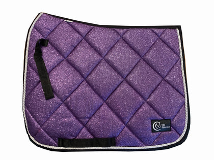 Purple glitter saddle pad