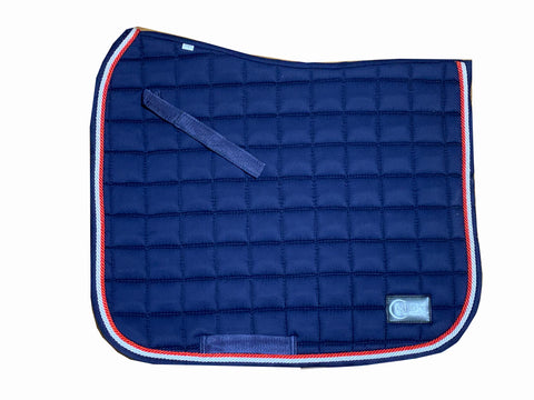 Navy & Red Dressage saddle pad