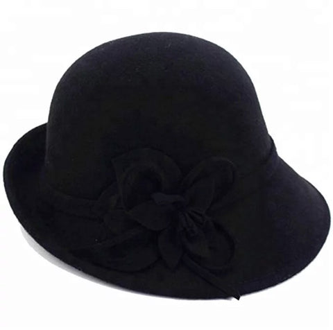 Black 100 % Wool Felt Hat