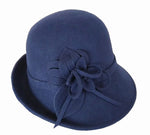 Navy 100% Wool Felt Hat