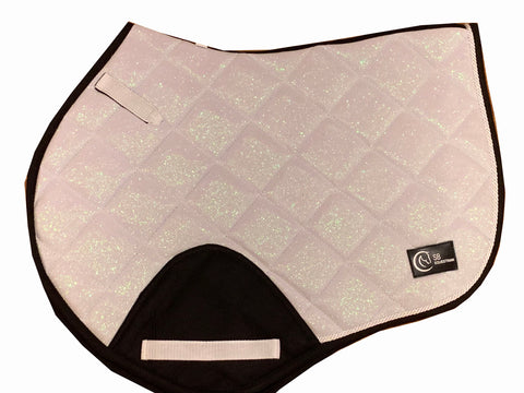 White Glitter Jump saddle pad