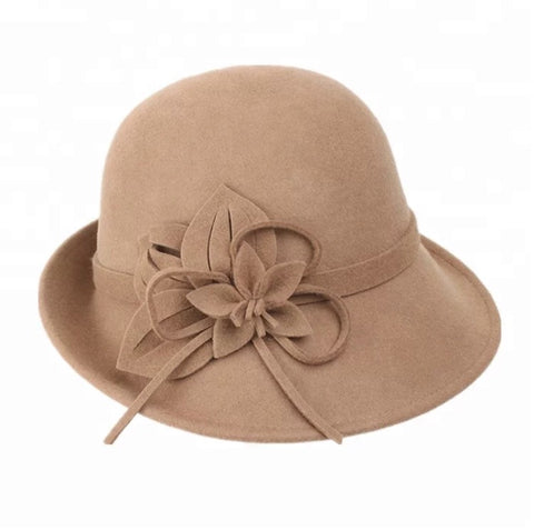 Camel 100% Wool Felt hat