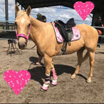 Pink glitter saddle pad