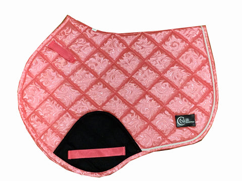 Pink Pattern Jump saddle pad
