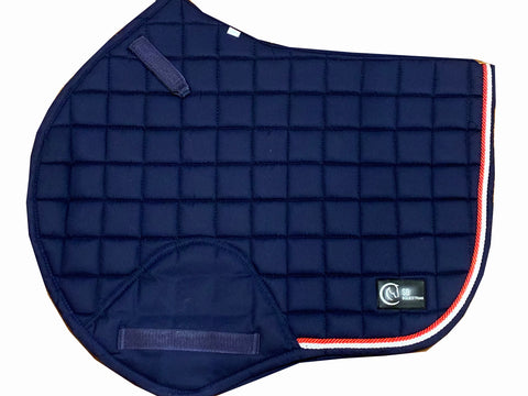 Navy & Red Jump saddle pad