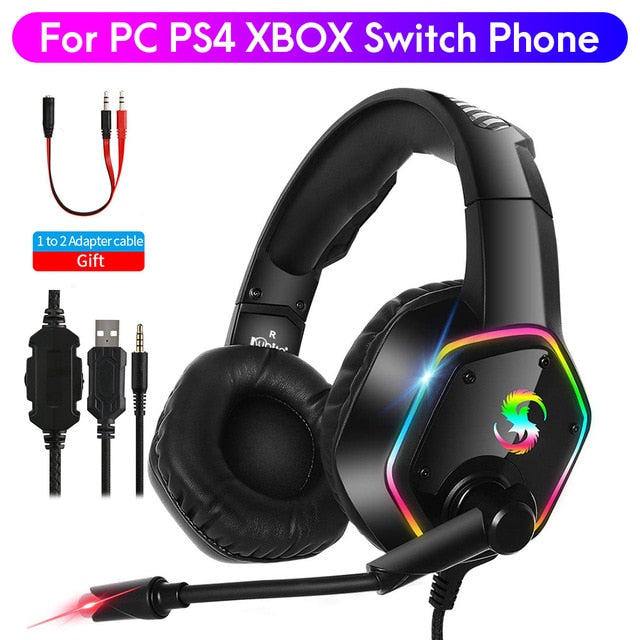 Stereo Gaming Headset LED Backlit (Wired Headphones With Mic) - OneDealBox