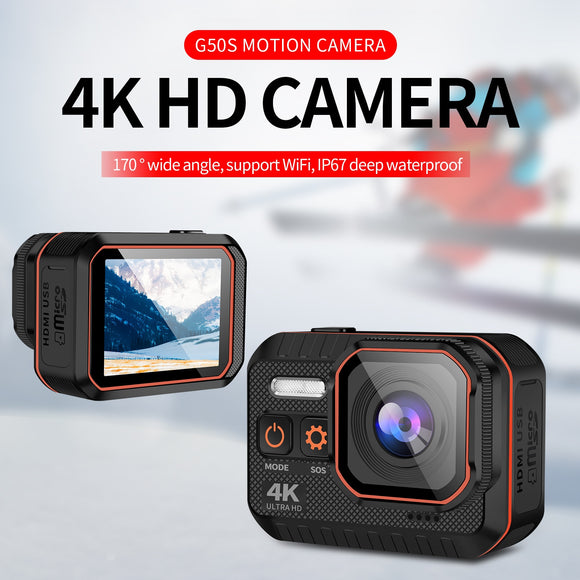G50S 4K Ultra HD Sports Action Camera 1080P / 120fps / 60 Fps  With Remote Control / 2inch Screen / IP67 Waterproof - OneDealBox