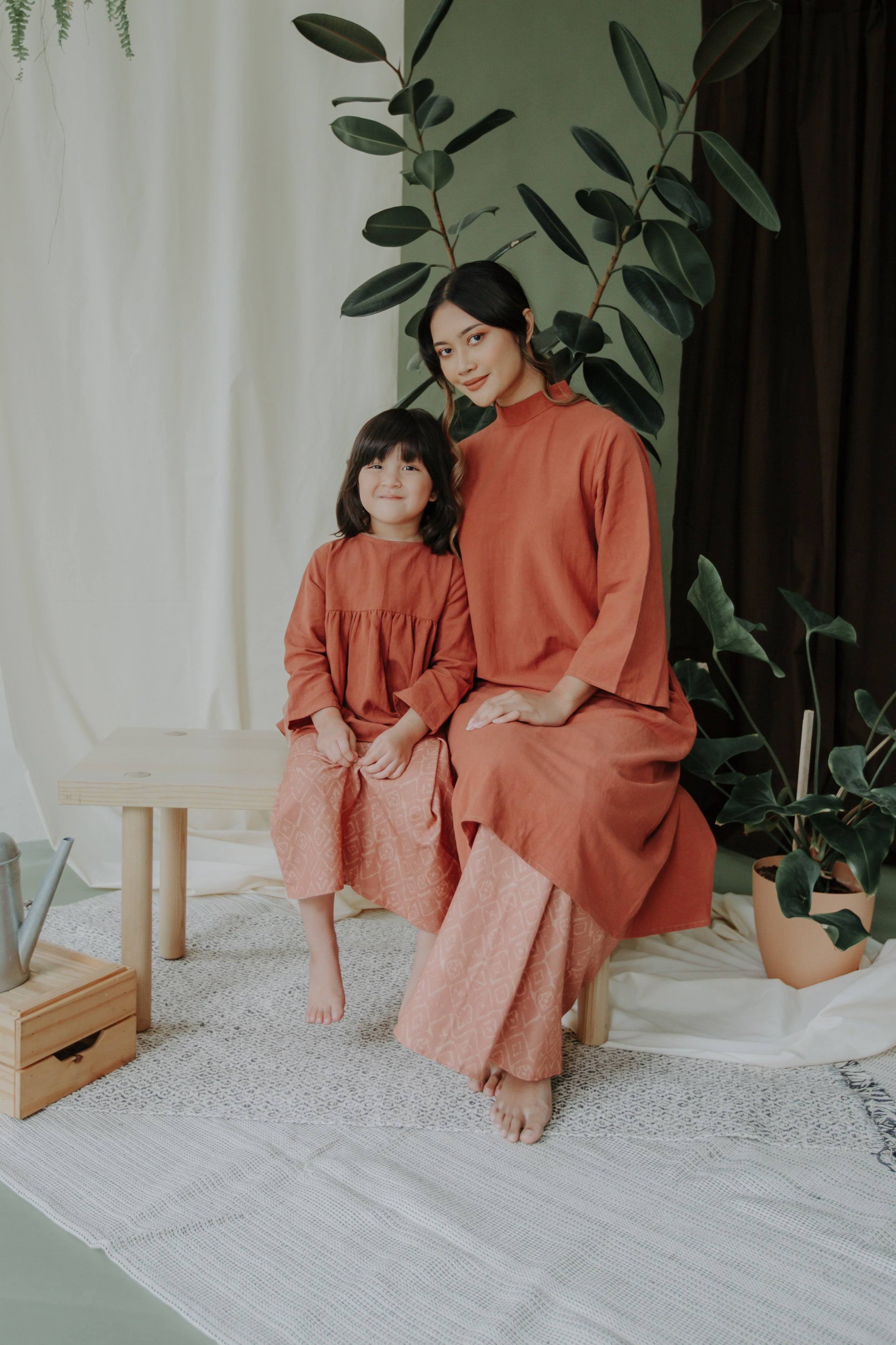 Maya Girls Set | Terracotta