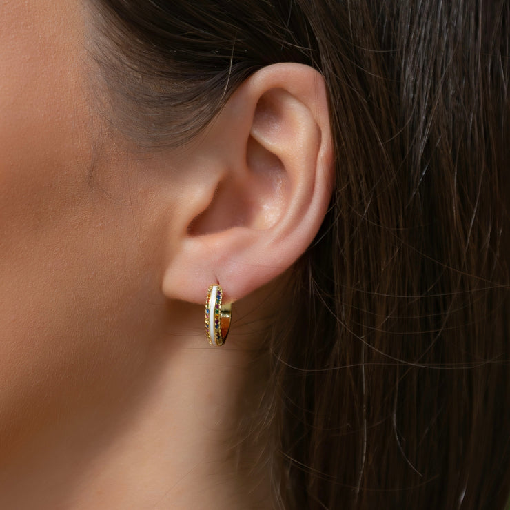 Aika Sterling Silver Hoop Earrings in Gold
