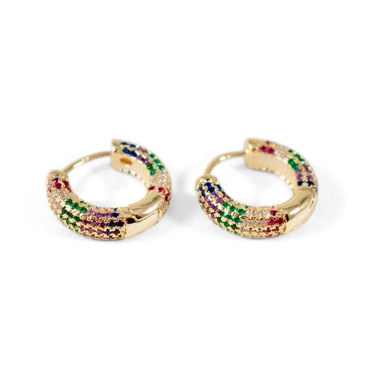 Alia Sterling Silver Hoop Earrings in Gold