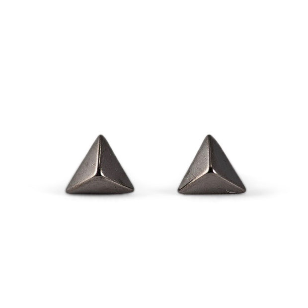 Anata Sterling Silver Stud Earrings in Black