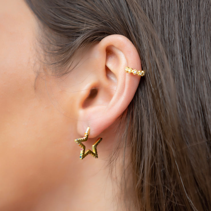 Arzu Sterling Silver Stud Earrings in Gold