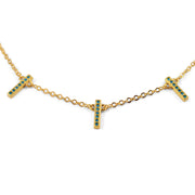 Caroline Sterling Silver Necklace in Gold