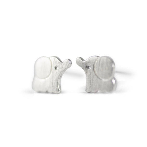 Elephant Sterling Silver Earrings