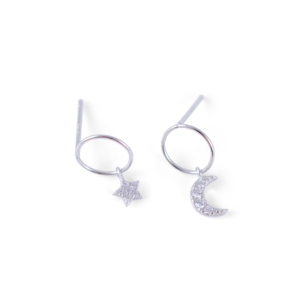 Night Sterling Silver Earrings