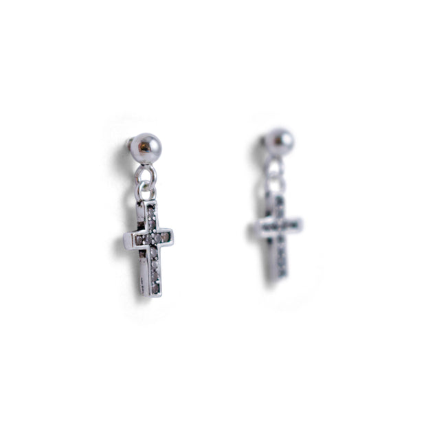 Nina Cross Sterling Silver Earrings