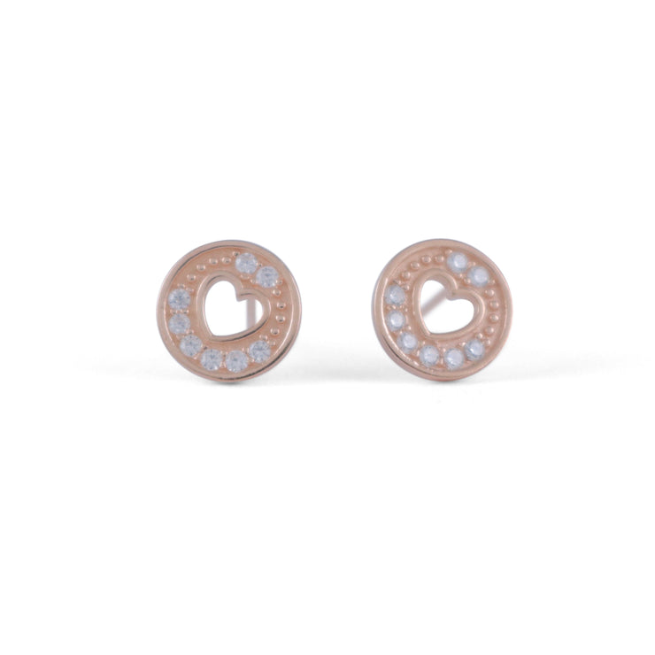 Seva Sterling Silver Earrings in Rose Gold