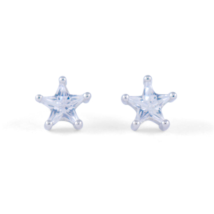 Star Sterling Silver Earrings