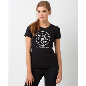 Black - I Give A Shit Organic Cotton Globe Tee