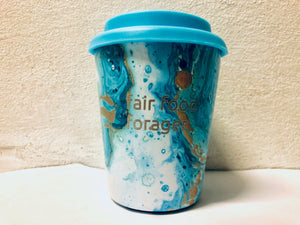 Coffee Nut 10 oz Travel Cup Blue Marble
