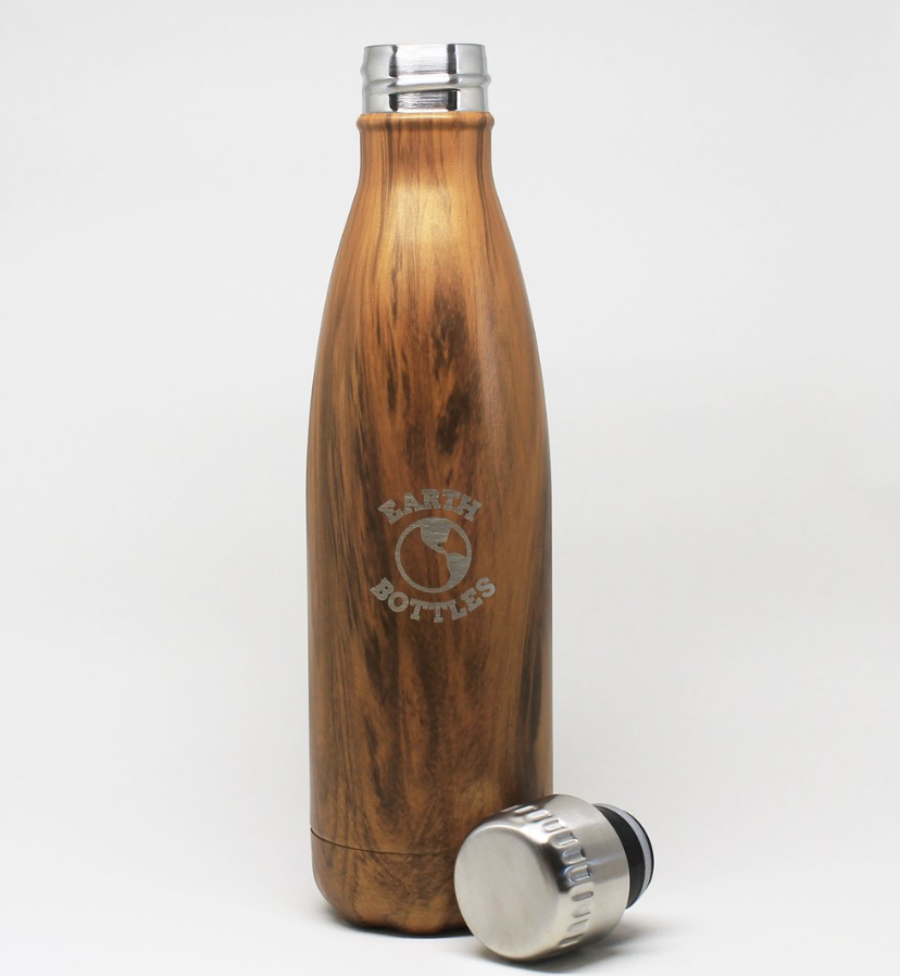 Forager Branded Earth Bottle Faux Timber - Pale