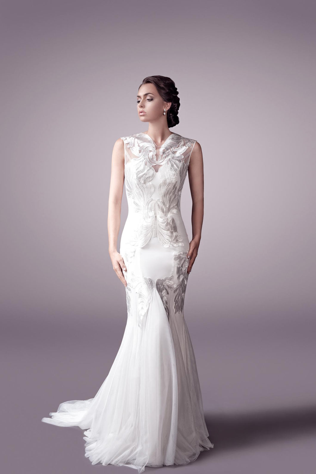 Elsa wedding dress bridal gown Perth - 9328 (F OUTERLAYER)