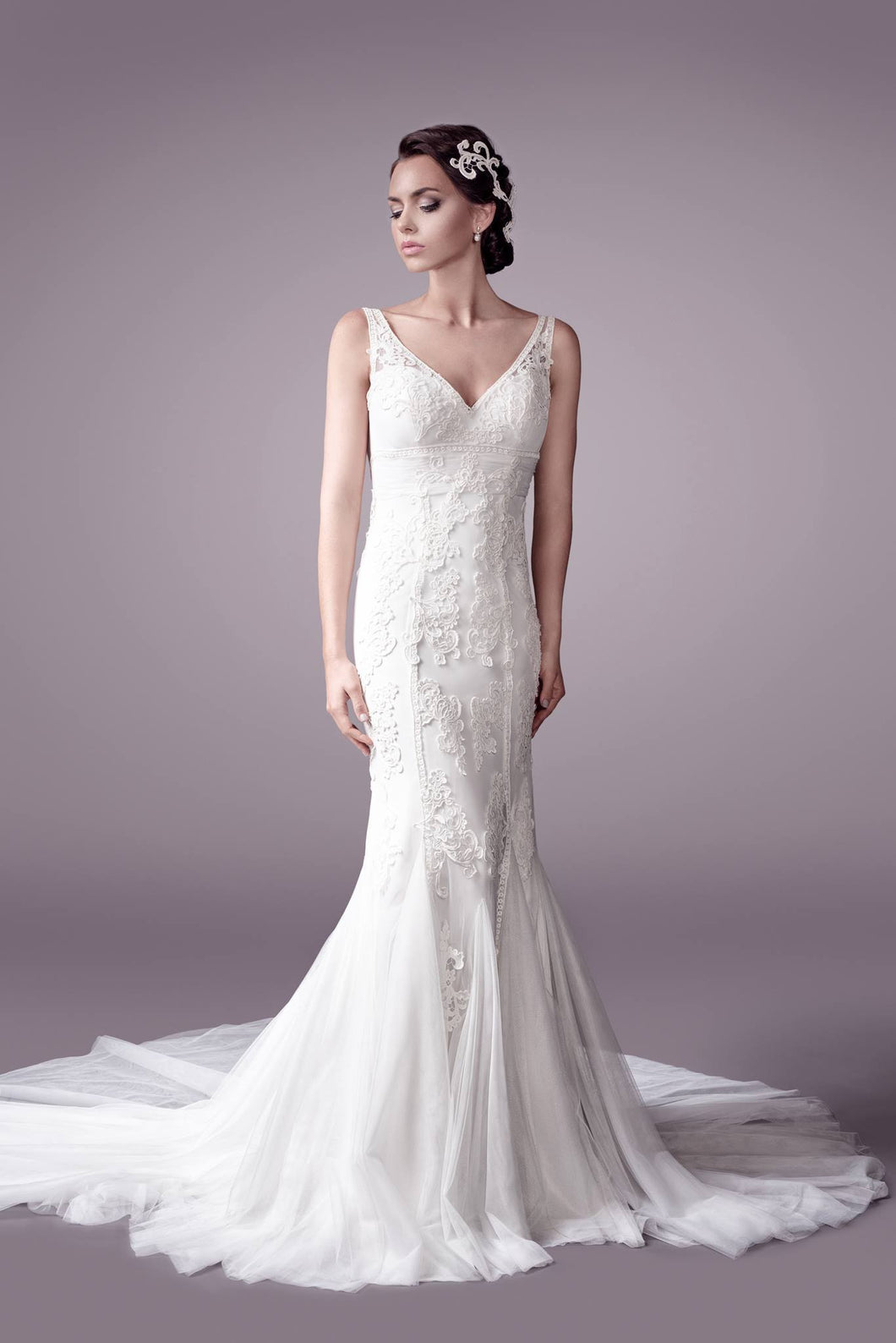 Shania wedding dress bridal gown Perth 9304 F