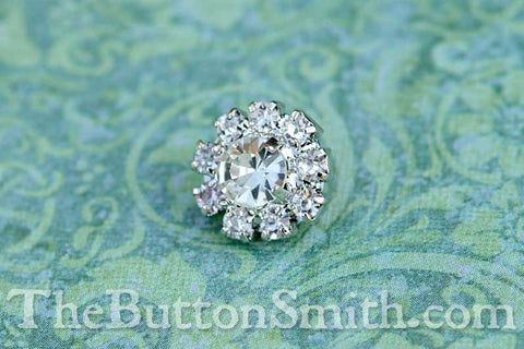 CLEOPATRA — 13 colors | Rhinestone Buttons 11mm RS-001