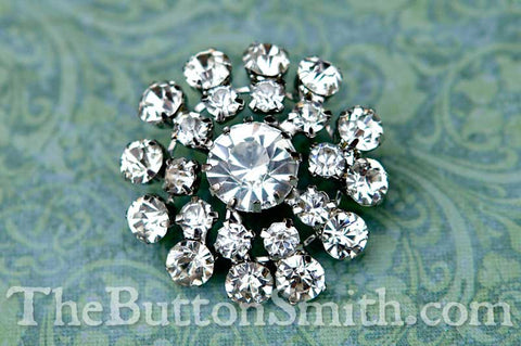 ADELE — Rhinestone Button 31mm RS-056