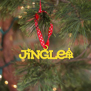 Jingle Tiny Word Ornament