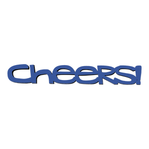 Tiny Word Magnet-Cheers