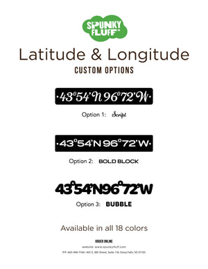 Custom Latitude Longitude Sign