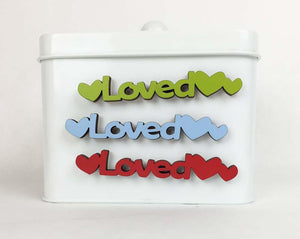 Loved-Tiny Word Magnet